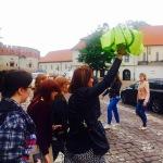 Klasyka przewodnictwa – podążajcie za parasolką   Wawel