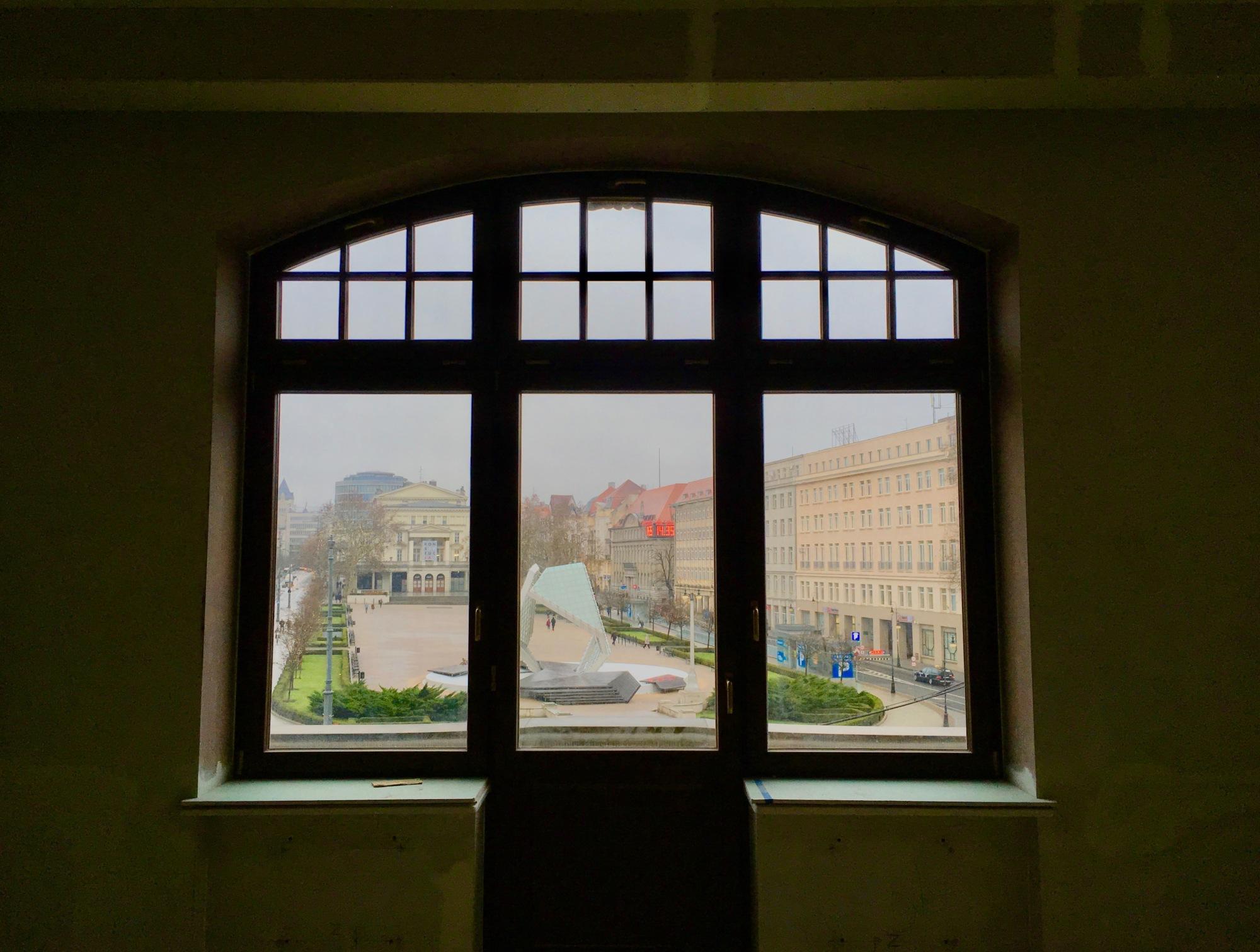 Widok z apartamentu 100 lat po powstaniu